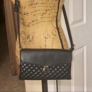 Crossbody Flap Over Zipper Closed Purse Bag